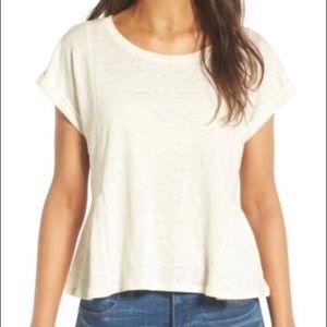 Madewell Linen Peplum T-Shirt